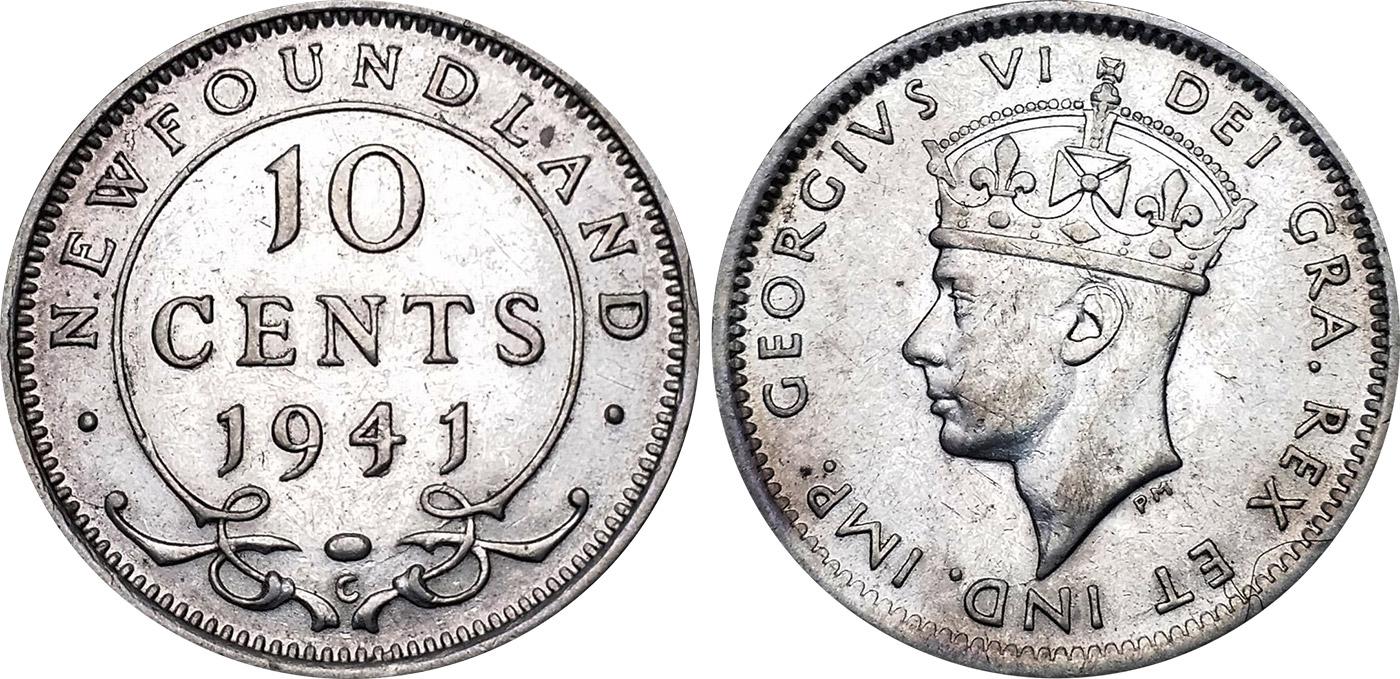 10 cents 1940 - Newfoundland