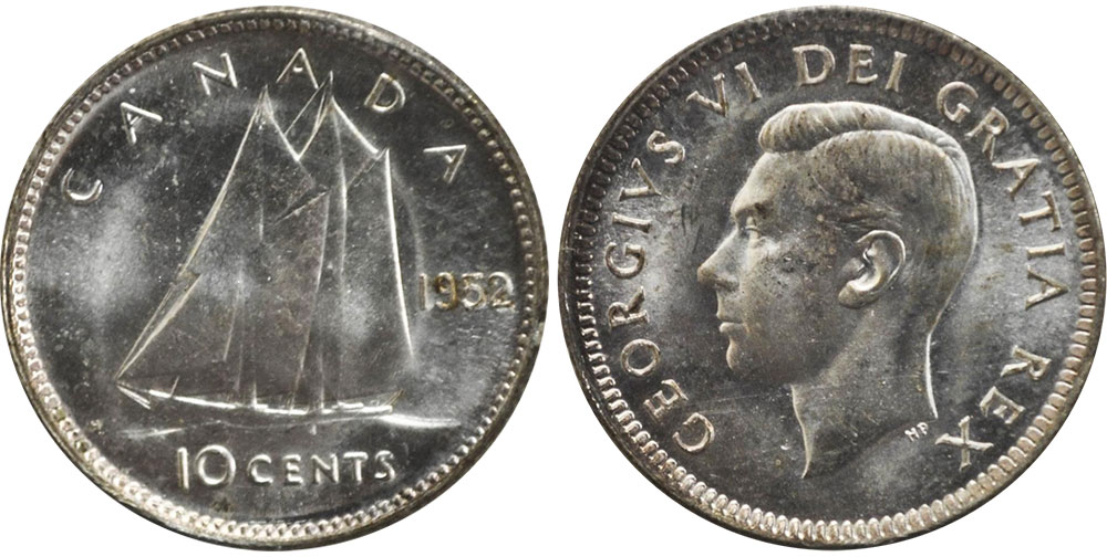 10 cents 1952