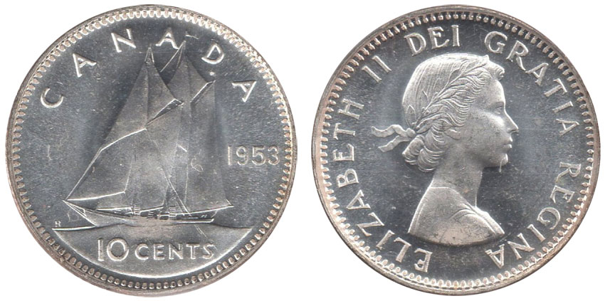 10 cents 1953