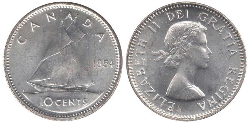 10 cents 1954
