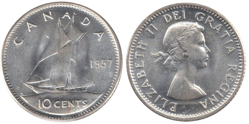 10 cents 1957