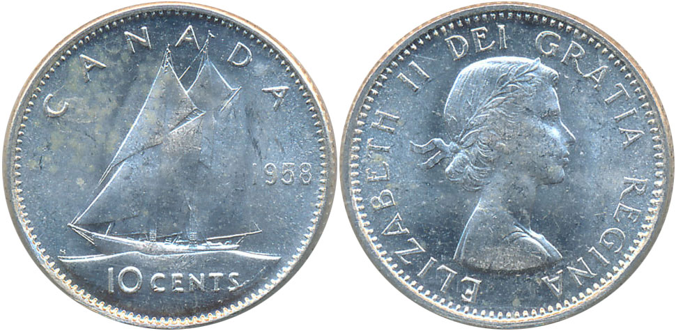 10 cents 1958