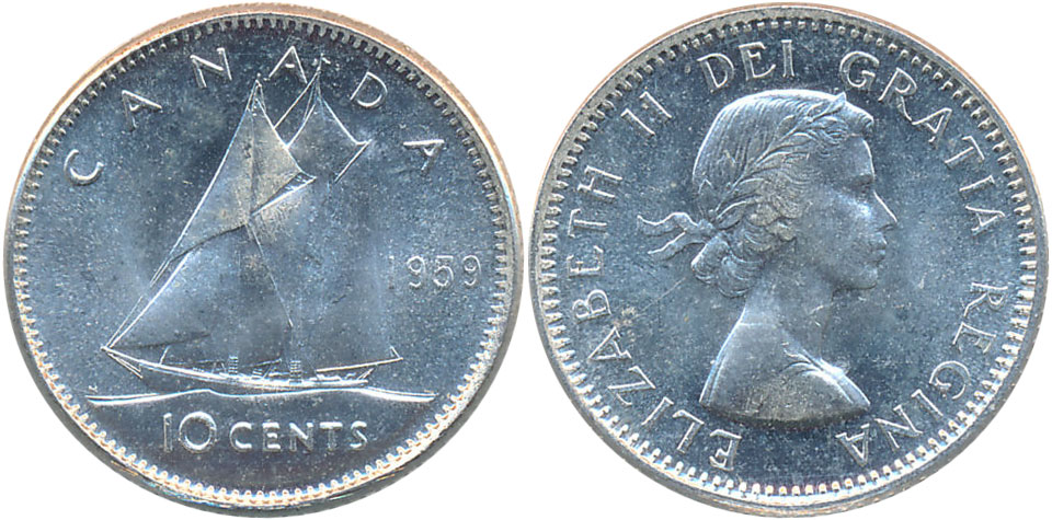 10 cents 1959