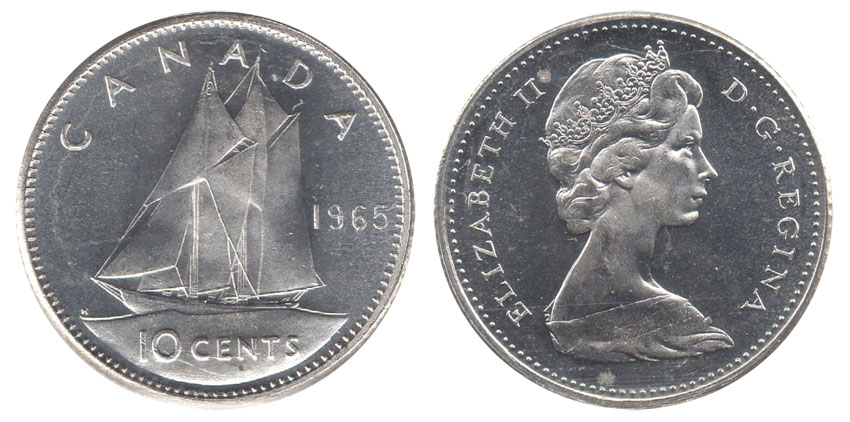 10 cents 1965