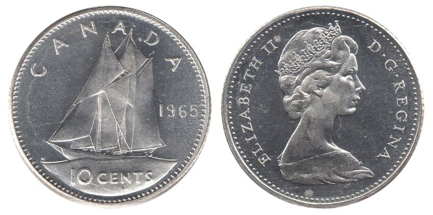 Numicanada 10 Cents 1965 Valeur Des Pi 232 Ces De Monnaie