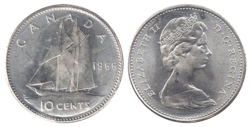 10 cents 1966