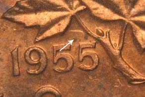 1 cent 1955 - Hanging 5