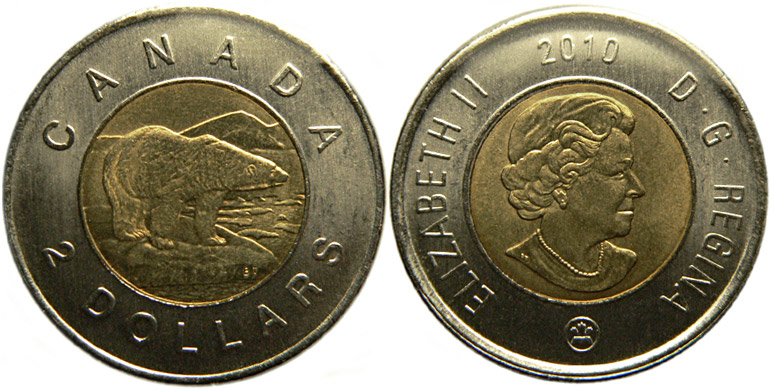 2 dollars 2010