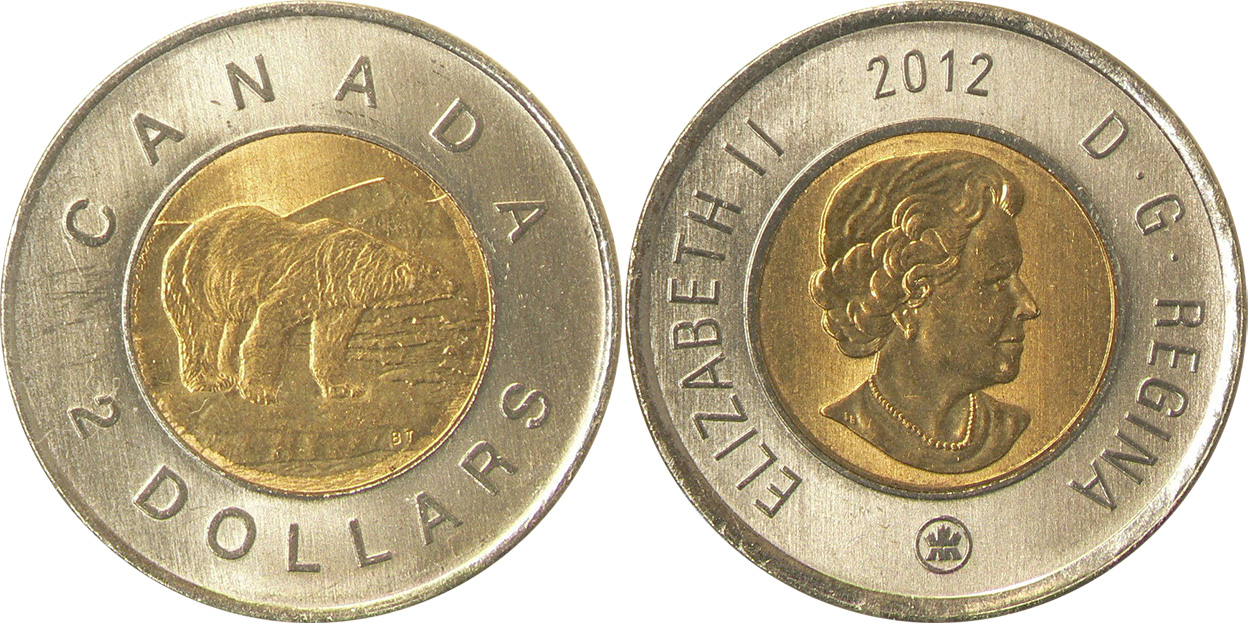 2 dollars 2012