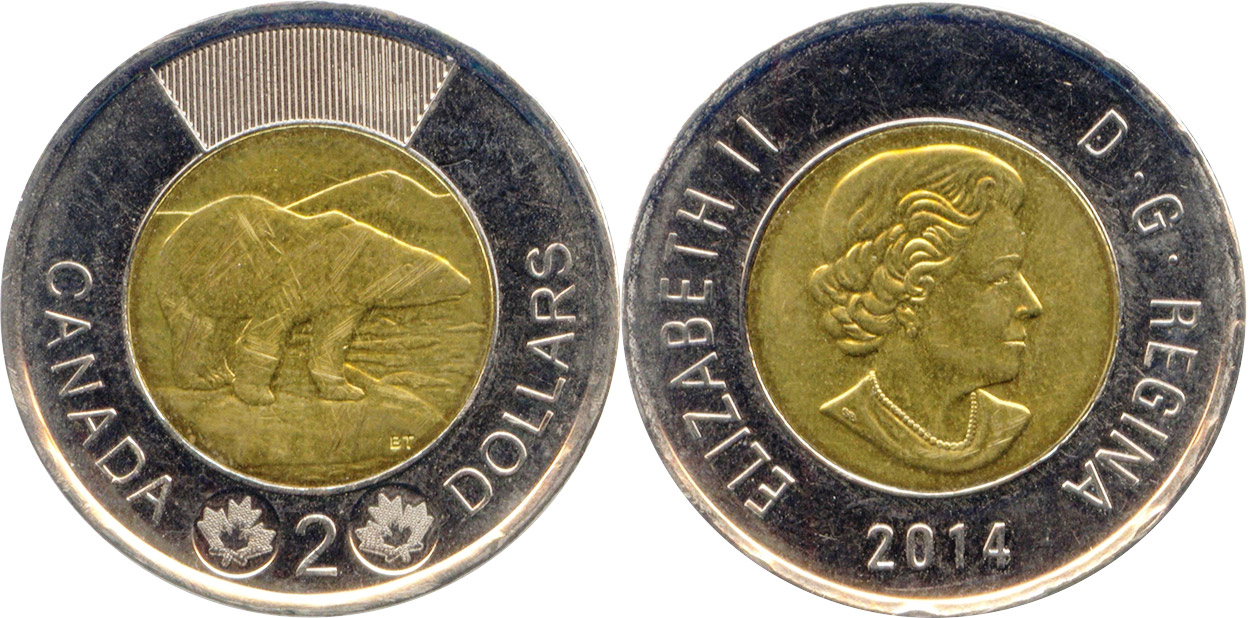 2 dollars 2014