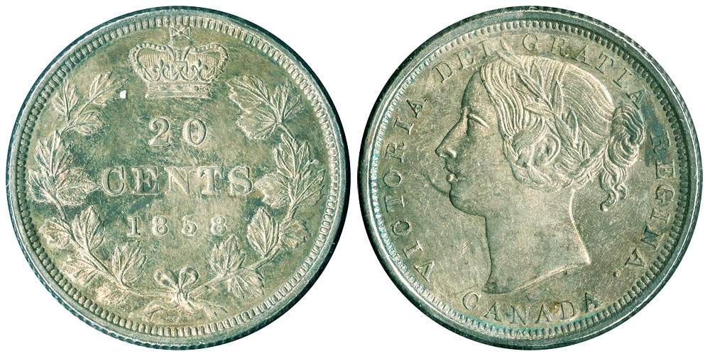 20cents 1858