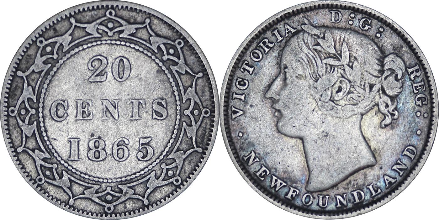 20 cents 1865 - Newfoundland