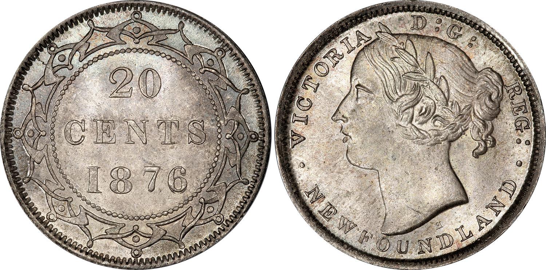 20 cents 1876 - Newfoundland