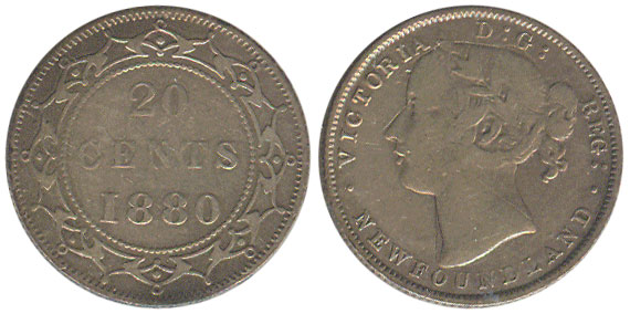 20 cents 1880 - Newfoundland