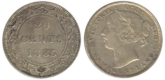 20 cents 1885 - Newfoundland
