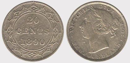 20 cents 1890 - Newfoundland