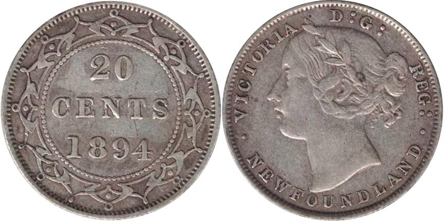 20 cents 1894 - Newfoundland