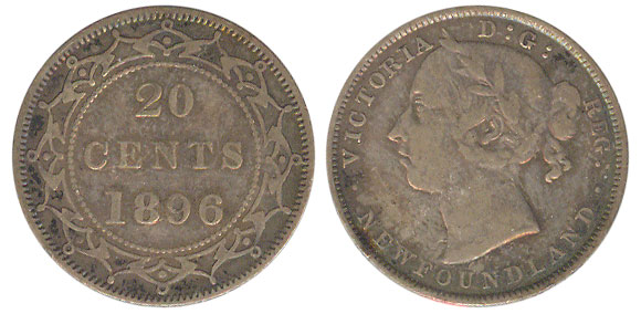 20 cents 1896 - Newfoundland