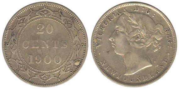 20 cents 1900 - Newfoundland