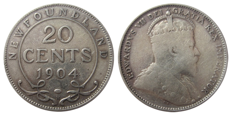 20 cents 1904 - Newfoundland