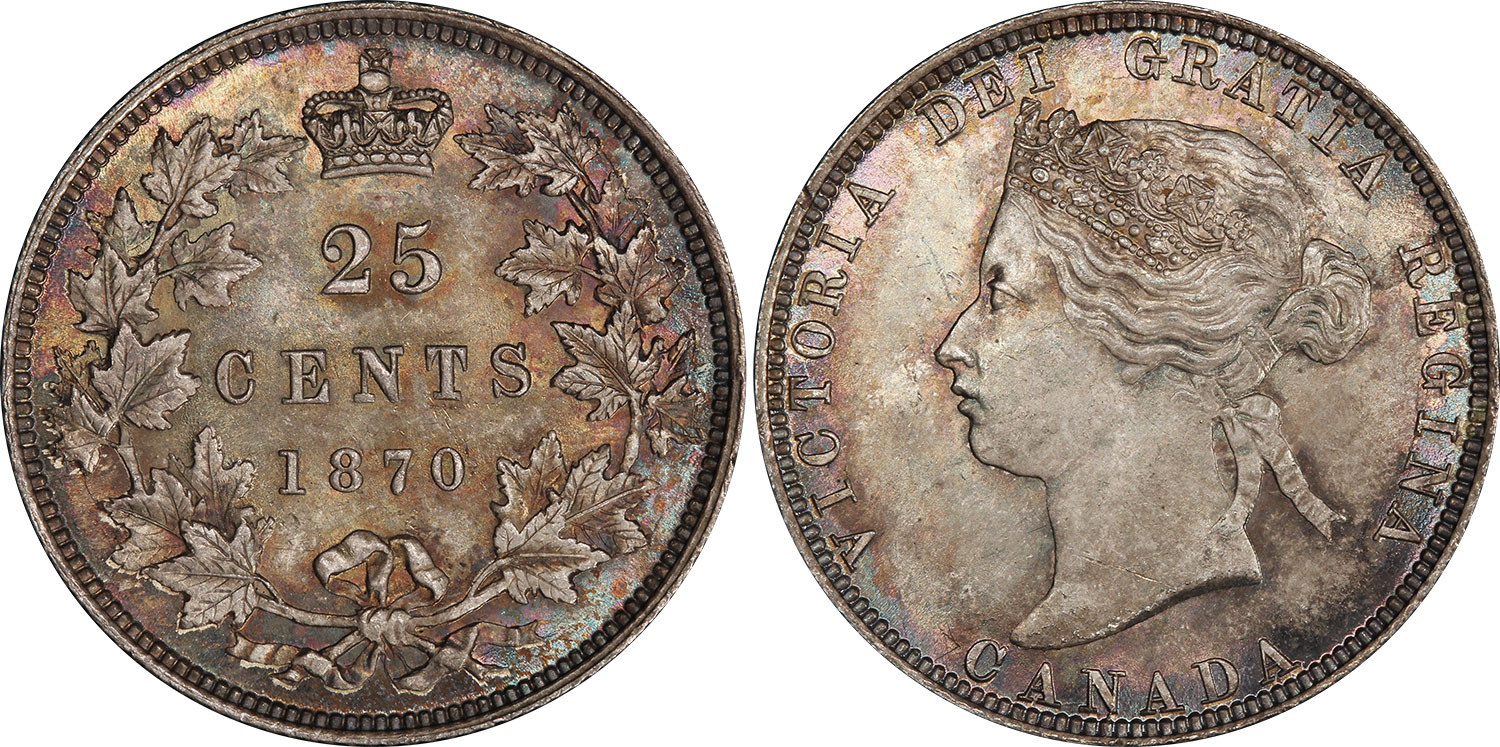 25 cents 1870