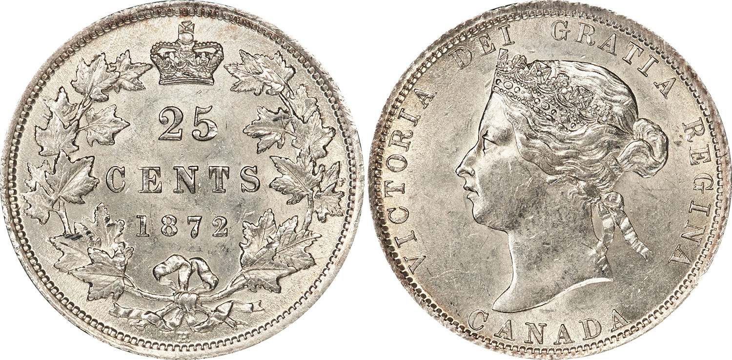 25 cents 1872