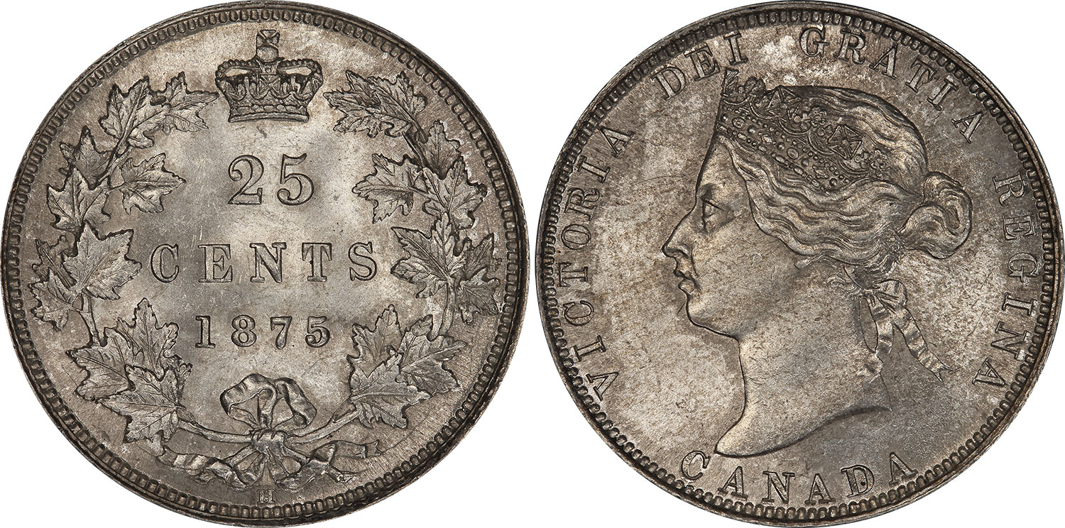 25 cents 1875