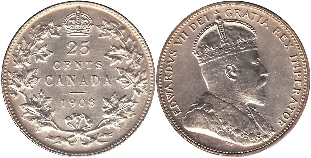 25 cents 1908
