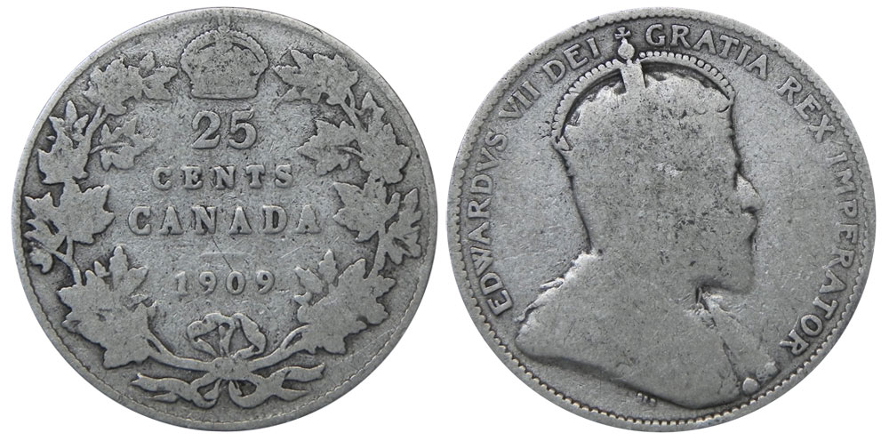 25 cents 1909