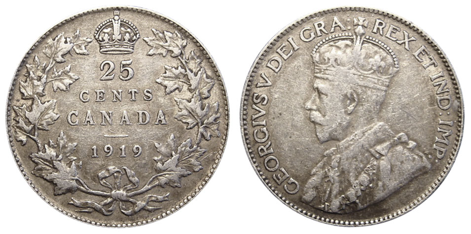 25 cents 1919
