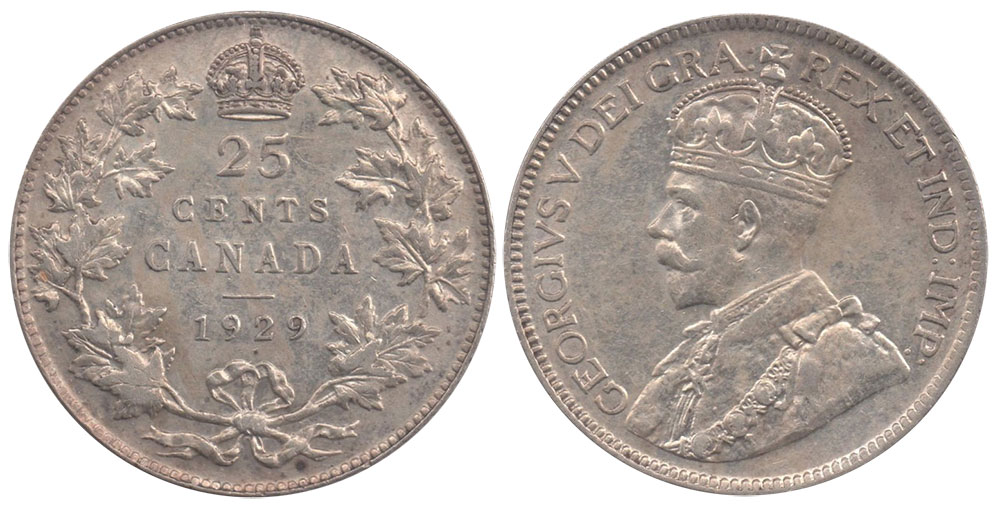 25 cents 1929
