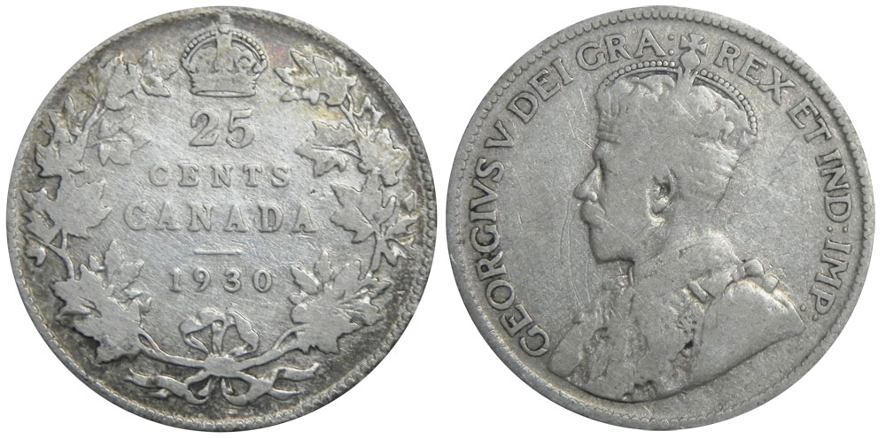25 cents 1930