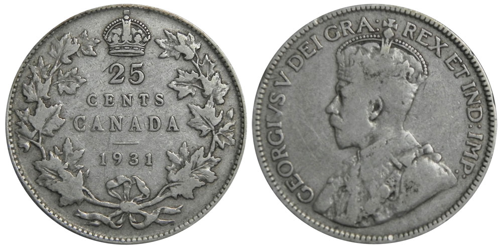 25 cents 1931