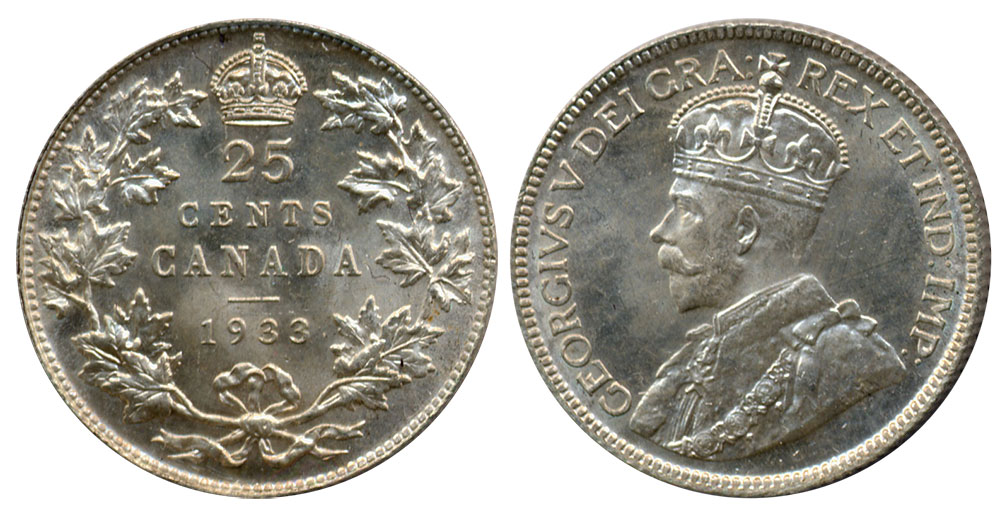 25 cents 1933