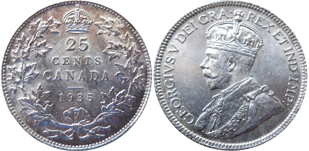 25 cents 1935