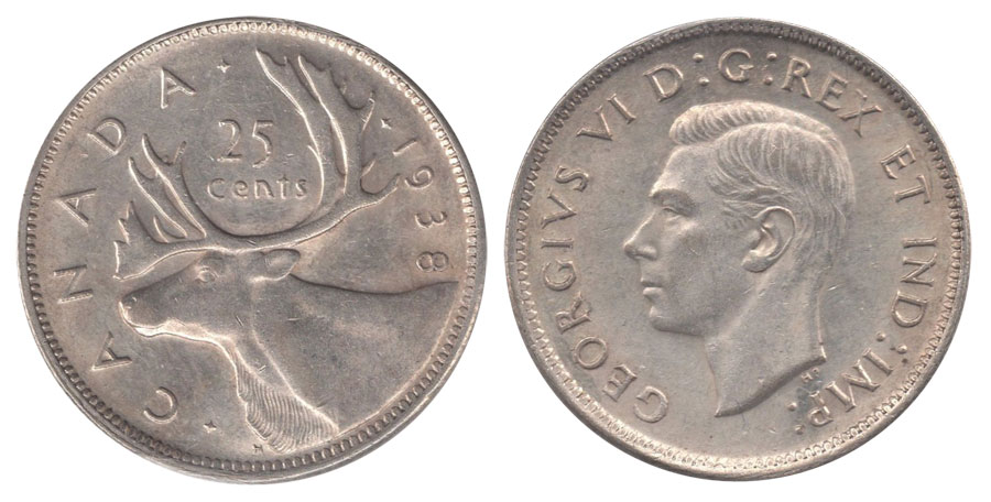 25 cents 1938