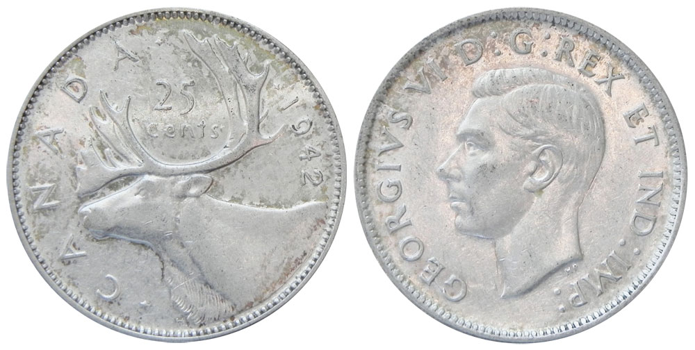 25 cents 1942