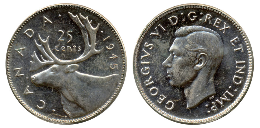 25 cents 1945