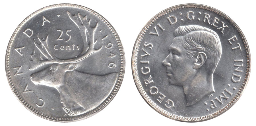 25 cents 1946