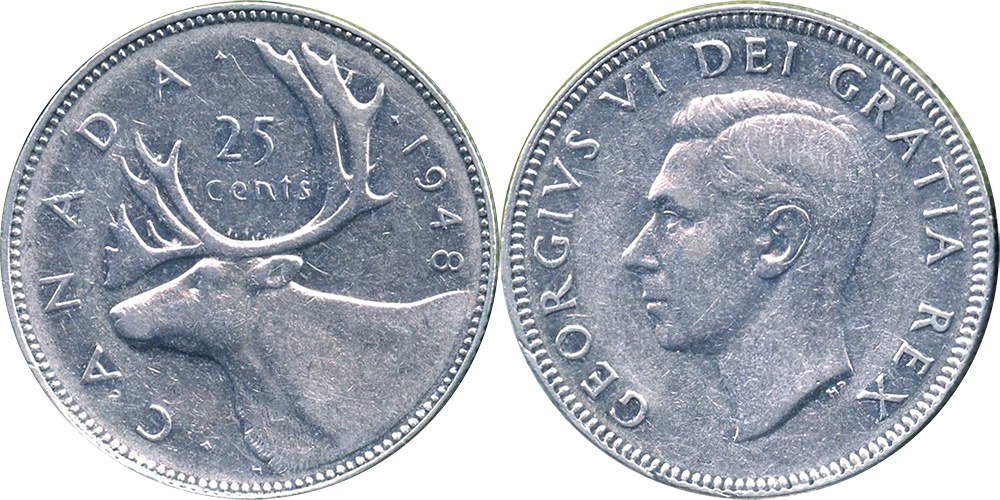 25 cents 1948