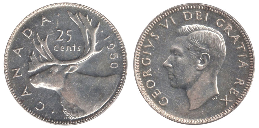 25 cents 1950