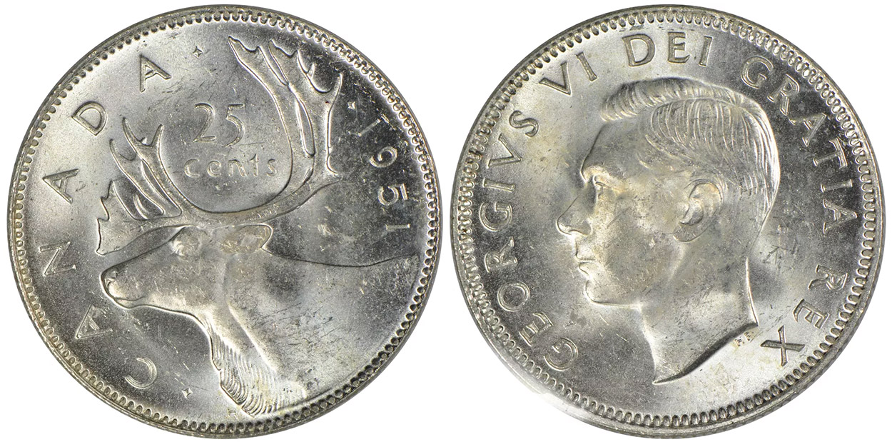25 cents 1951