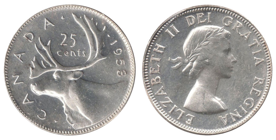 25 cents 1953
