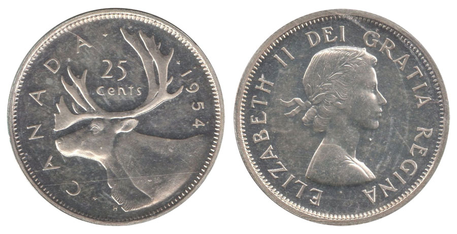 25 cents 1954