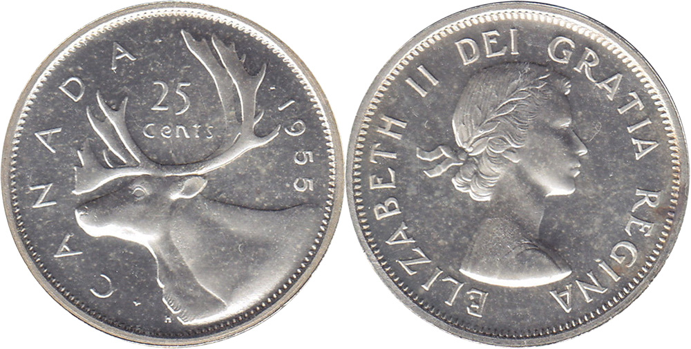 25 cents 1955