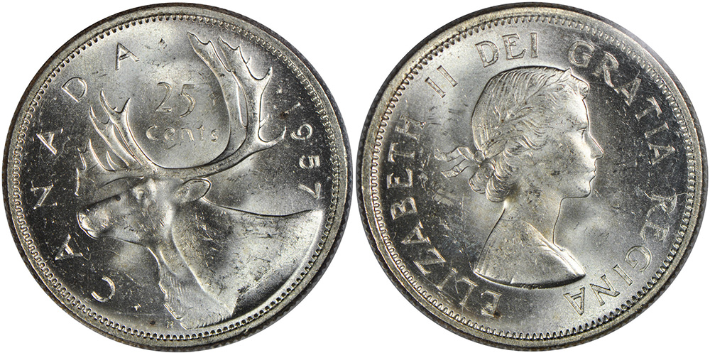25 cents 1957