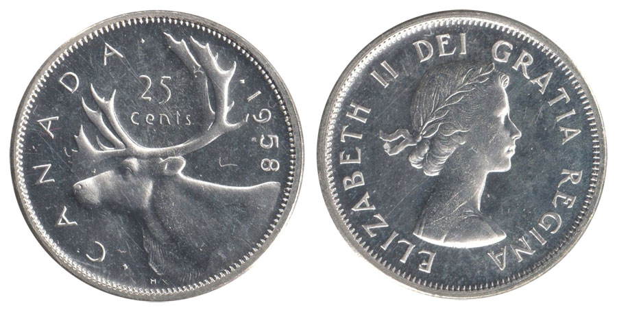 25 cents 1958