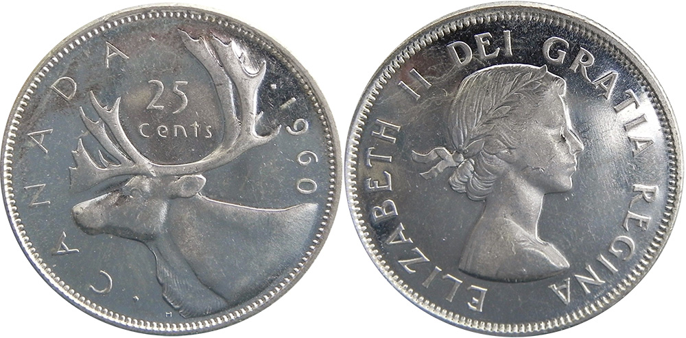 Coins And Canada 25 Cents 1960