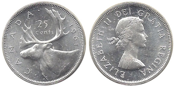 25 cents 1961