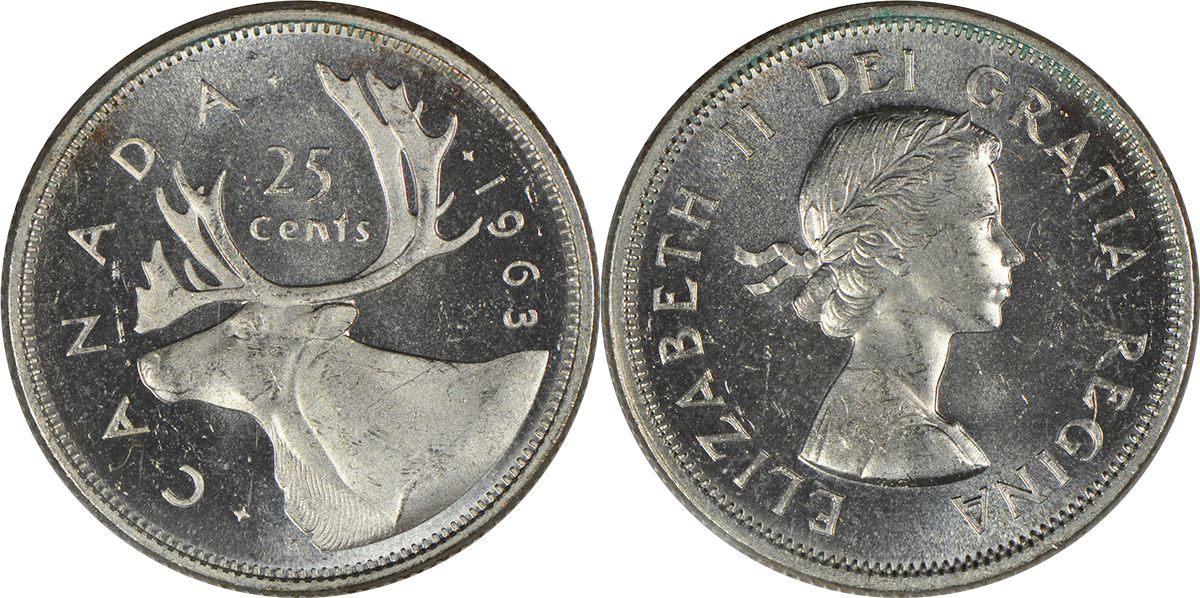 25 cents 1963